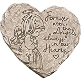 Cheap Precious Moments Garden Gifts 171459 Forever with The Angels, Always in Our Hearts Decorative Resin Angel Memorial Garden Stone, Gray, 8-inch Long by 7.25-in Wide