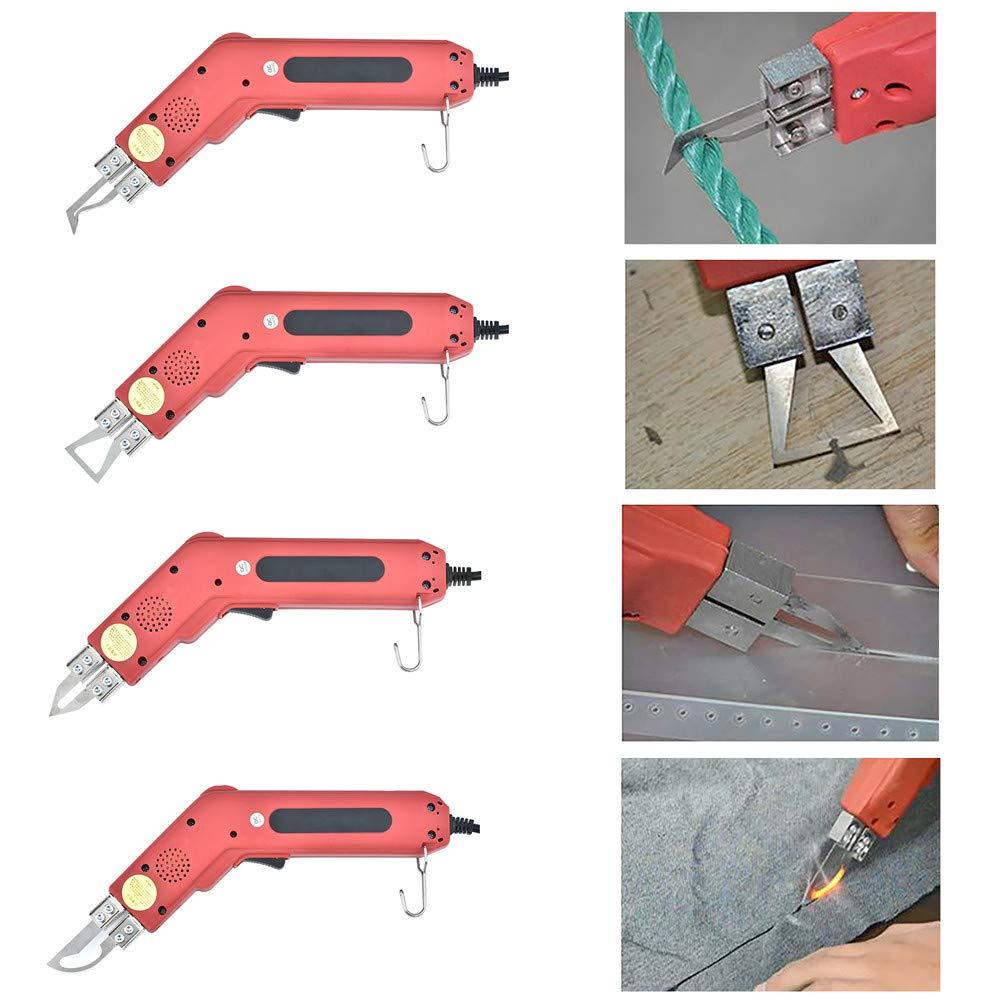 With Presser Foot cortador de cuerda de tela profesional de 100W 220V InLoveArts Cortador de cuchilla el/éctrica herramienta de corte de cuchilla calefactora de mano para corte de cuerda y tela
