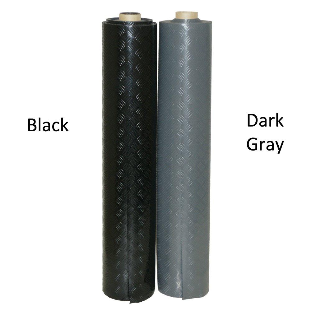 Rubber-Cal ''Diamond-Grip Resilient Flooring Mat - 2mm x 4ft x 15ft Rubber Flooring Rolls - Black by Rubber-Cal (Image #3)