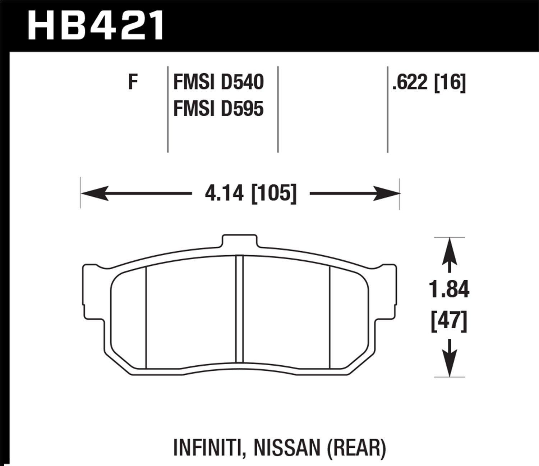 Hawk Performance HB421F.622 HPS Performance Ceramic Brake Pad