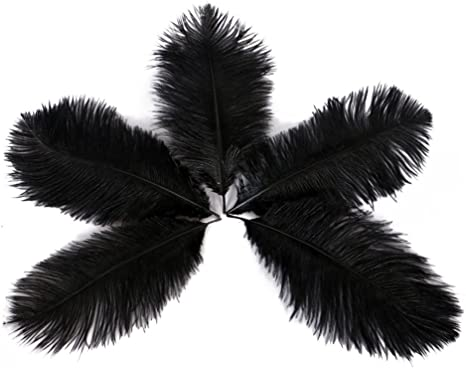15-20cm Plume for Wedding Centerpieces Home Decoration Wionya 50pcs Ostrich Feather Craft 6-8inch