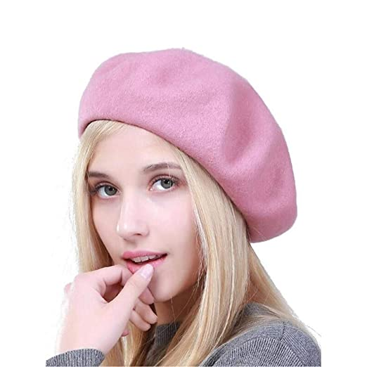 9e72c393 Knit Beret Hat Wool Knit Beanie Slouchy Caps Art Basque Beret Beanie Hat Cap  (A