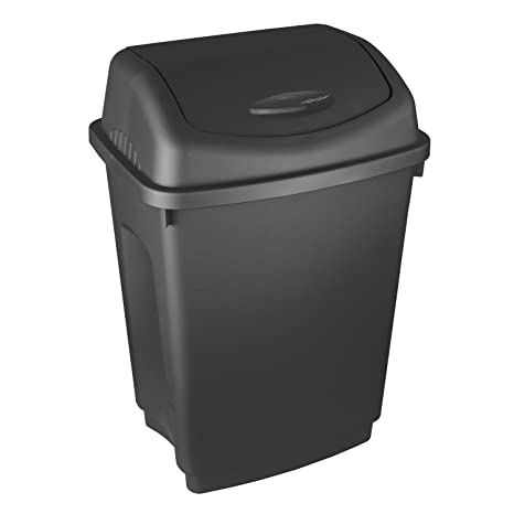 General Household Supplies Waste Bins & Dustbins 10L Plastic Swing Bin Rubbish Container Home,Office,Bath Waste Recycle Dustbin