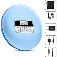 Portable CD Player, HOTT Personal Compact Disc Player with Headphones and Power Adapter, Compact Walkman with Electronic Skip Protection Anti-Shock Function