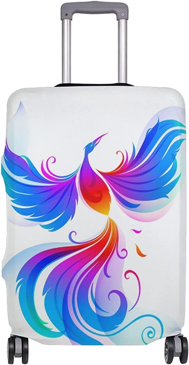 imobaby Colorful Bird Phoenix Travel Luggage Covers Suitcase Protector Fits 18-20 in