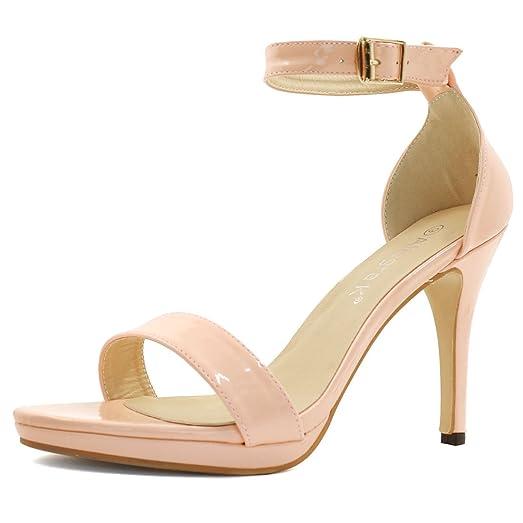 Amazon.com | Allegra K Women's Ankle Strap Stiletto Heels | Heeled ...
