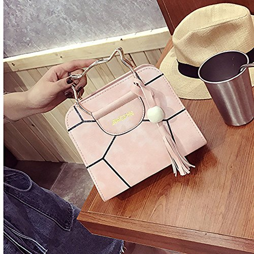Handle Pink Summer Women's Fashion Top Cross Cute Shoulder Body Cat Bag tqCZqS