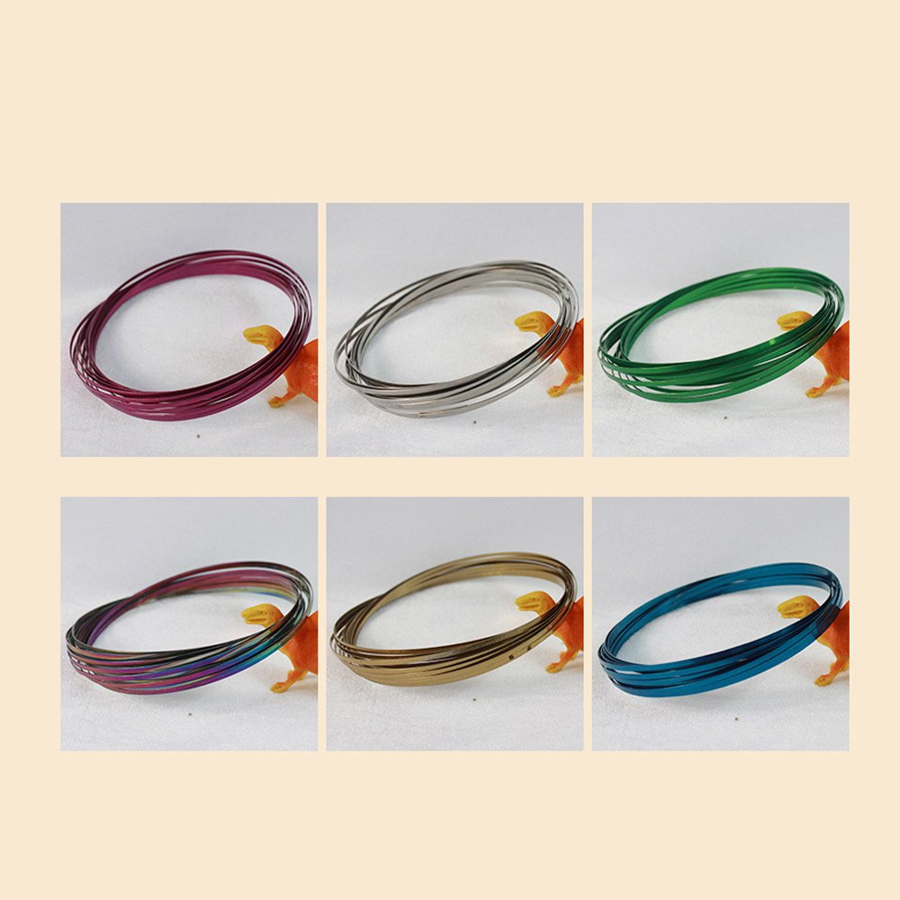 WDART Magic Flow Rings Stainless Steel Rings Toys Original Kinetic Spring Toy Multi Sensory Interactive 3D Shaped Flow Ring Green