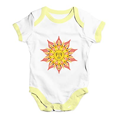 5a103883d57e TWISTED ENVY Decorative Mandala Sun Baby Unisex Funny Baby Grow Bodysuit