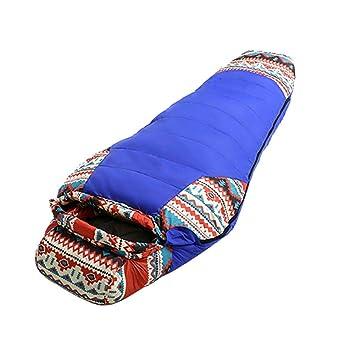 SHUIDAI Saco de dormir adulto momia abajo Acampar al aire libre Primavera invierno Saco de dormir pato abajo , Blue: Amazon.es: Deportes y aire libre