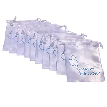 Amazon 10 Pack Satin Bags HAPPY BIRTHDAY Gift Bag