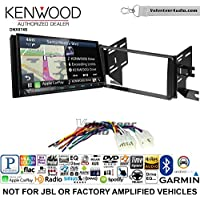 Volunteer Audio Kenwood DNX874S Double Din Radio Install Kit with GPS Navigation Apple CarPlay Android Auto Fits 2007-2014 Non Amplified Toyota FJ Cruiser