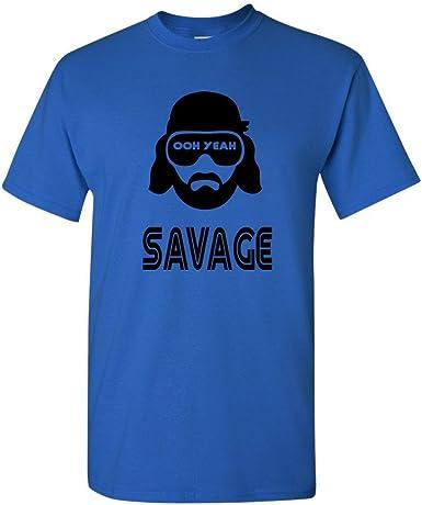 Macho Man Randy Savage Funny WWE Tees Hilarious Retro Wrestling Mens T-Shirts