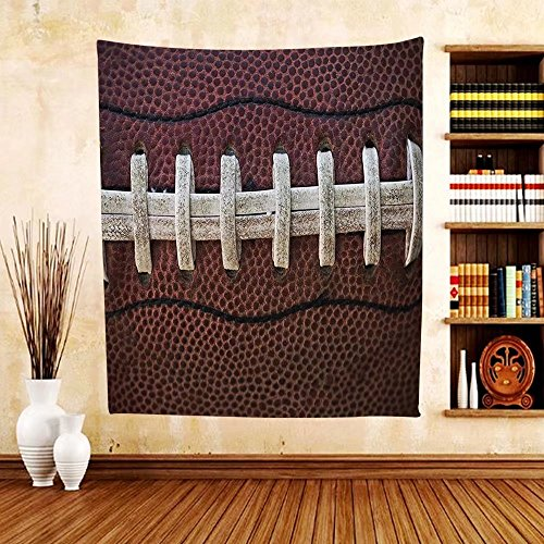 Gzhihine Custom tapestry Sports Decor Collection American Football Rugby Balls Pattern Professional Success Stylized Bedroom Living Room Dorm - All Wallpaper Rugby Black