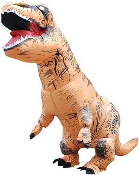 Shi Ran Disfraz Inflable de Dinosaurio, Disfraz de Dinosaurio T ...