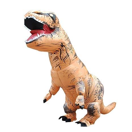 Shi Ran Disfraz Inflable de Dinosaurio, Disfraz de ...