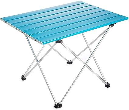 Mini Azul Portatiles Plegable Mesa para Camping en Aluminio con ...