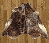 Homemusthaves Brown Black Partial Beige White Brazilian Approximately 5x8 5 x 8 Feet Cowhide Rug Cow Hide Skin Leather Area Rug
