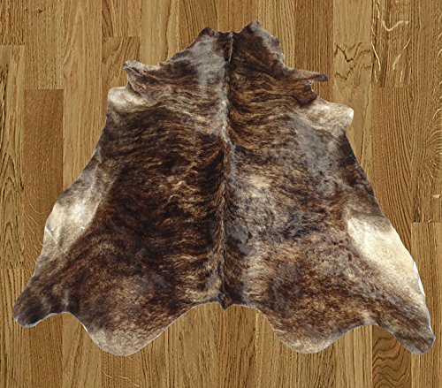 Homemusthaves Brown Black Partial Beige White Brazilian Approximately 5x8 5 x 8 Feet Cowhide Rug Cow Hide Skin Leather Area Rug by Homemusthaves