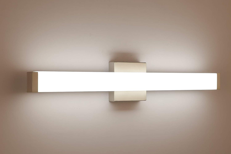 Yhtlaeh Bathroom Vanity Light Brushed Nickel Square Led 24 Inch 14w Daylight 4000k Wall Bar Lighting Fixtures Over Mirror Amazon Co Uk Lighting