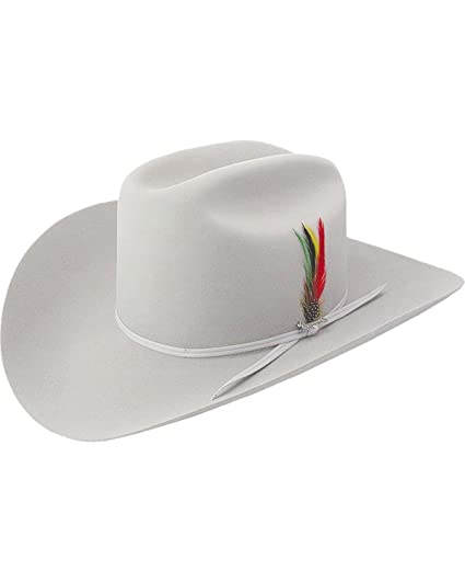 47763ec9999 Stetson Men s 6X Silverbelly Rancher Fur Felt Cowboy Hat Silverbelly 6 3 4