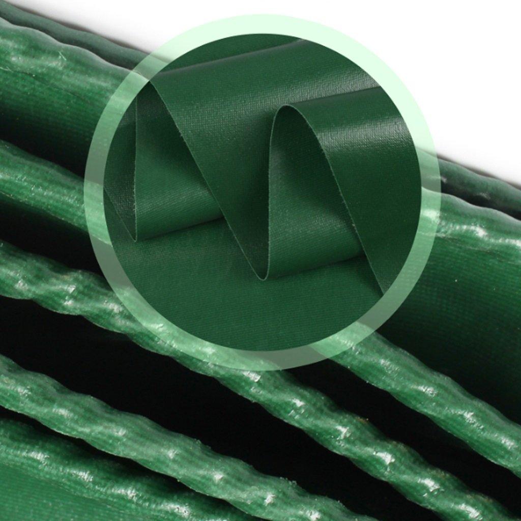タープ グリーンターポリンキャンバス強力な防水日保護Ponchoファミリーキャンプガーデン屋外で使用、厚さ0.42mm、500g / m2、12サイズオプション (サイズ さいず : 4 * 4m) 4*4m  B07GXM1GVV