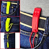 HEIMDALL Emergency Survival Whistle with Lanyard (2 Pack) for Safety Boating Camping Hiking Hunting Rescue Signaling