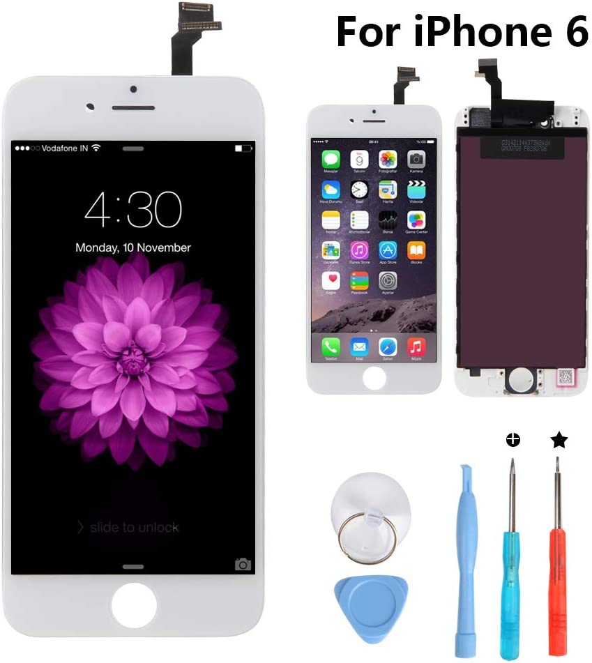 New Sign iPhone 6 4.7 Inch Screen Replacement LCD Digitizer Full Assembly Kit (iPhone 6 White)