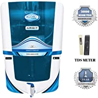 Konvio Neer Amrit RO + UV + UF + TDS Adjuster Water Purifier with Japanese UV and High 3000 TDS Membrane (Blue)