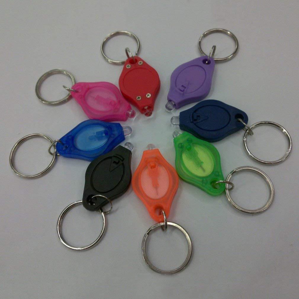 Portable Mini Size Keychain Squeeze Light Micro LED Flashlight Torch Light