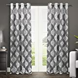 Best Exclusive Home Curtains Home Blackout Curtains 1 Panels - Exclusive Home Curtains Medallion Thermal Blackout Grommet Top Review