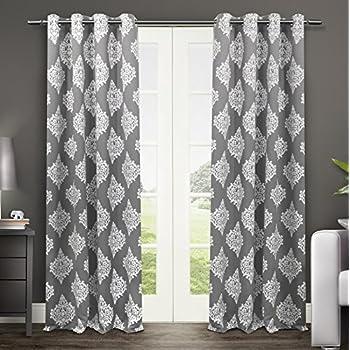 Amazon Com Exclusive Home Curtains Baroque Textured Linen