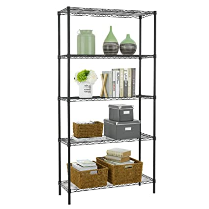 En Wire Shelving | Amazon Com Nsf Wire Shelf Metal 5 Shelf Wire Shelving Unit Garage