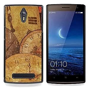 """Planetar ( Tiempo Reloj ilustraciones Reloj Moderno Espiritual"""" ) OPPO Find 7 X9077 X9007 Fundas Cover Cubre Hard Case Cover"""