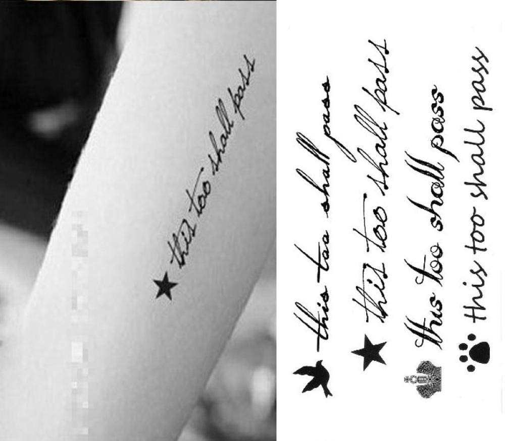 pegatinas de tatuaje Sentence English tatuaje desechable ...