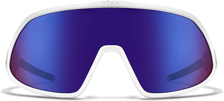 white sport sunglasses with purple lenses