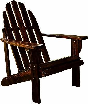 Shine Company Catalina Adirondack Chair, Burnt Brown