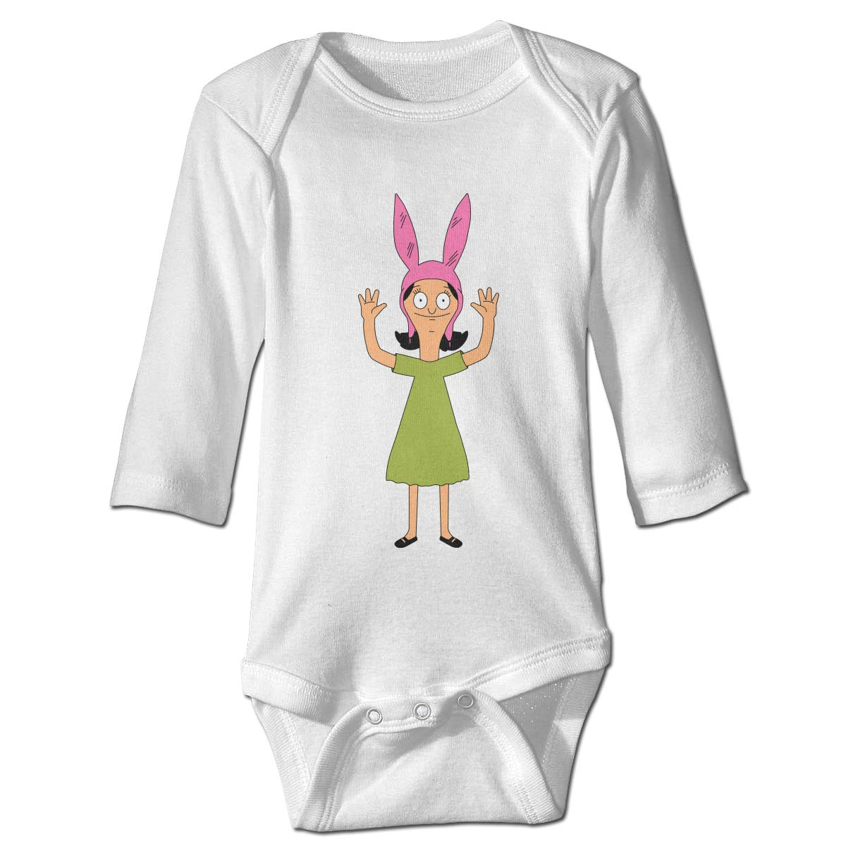Bobs Burgers Unisex-Baby Cotton Long Sleeve Lap Neck Rompers Outfits One-Piece Bodysuits 6M