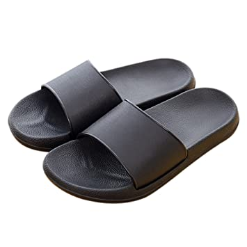 Unisex Slip-on Slippers Non-slip Open Toe Shower Sandals Indoor or Outdoor Mule Think EVA Resin Foams Sole Pool Shoes Bathroom Slide for Adult