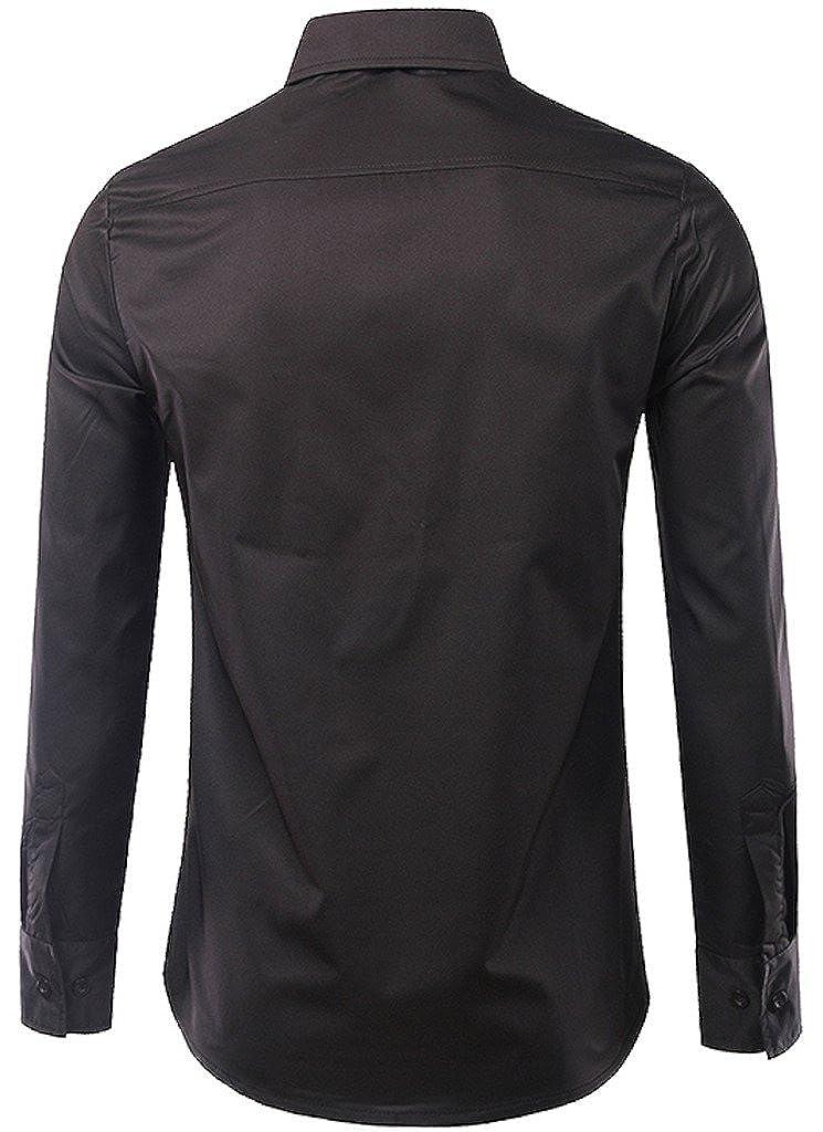WHATLEES Mens Long Sleeve Print Button Down Dress Shirt