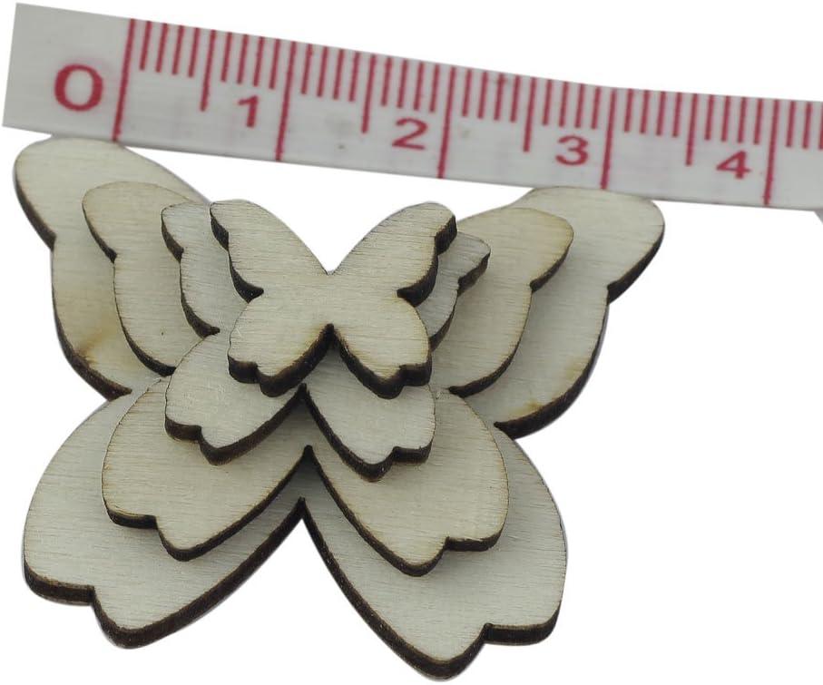 50pcs DIY Set Schmetterling Holz Scrapbooking Deko Versch/önerung Scrapbook