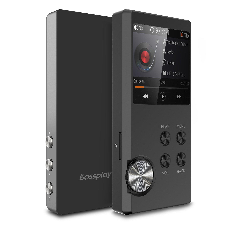 Reproductor de música Bassplay P3000 de alta resolución sin pérdida. Reproductor de mp3 portátil de color gris: Amazon.es: Electrónica