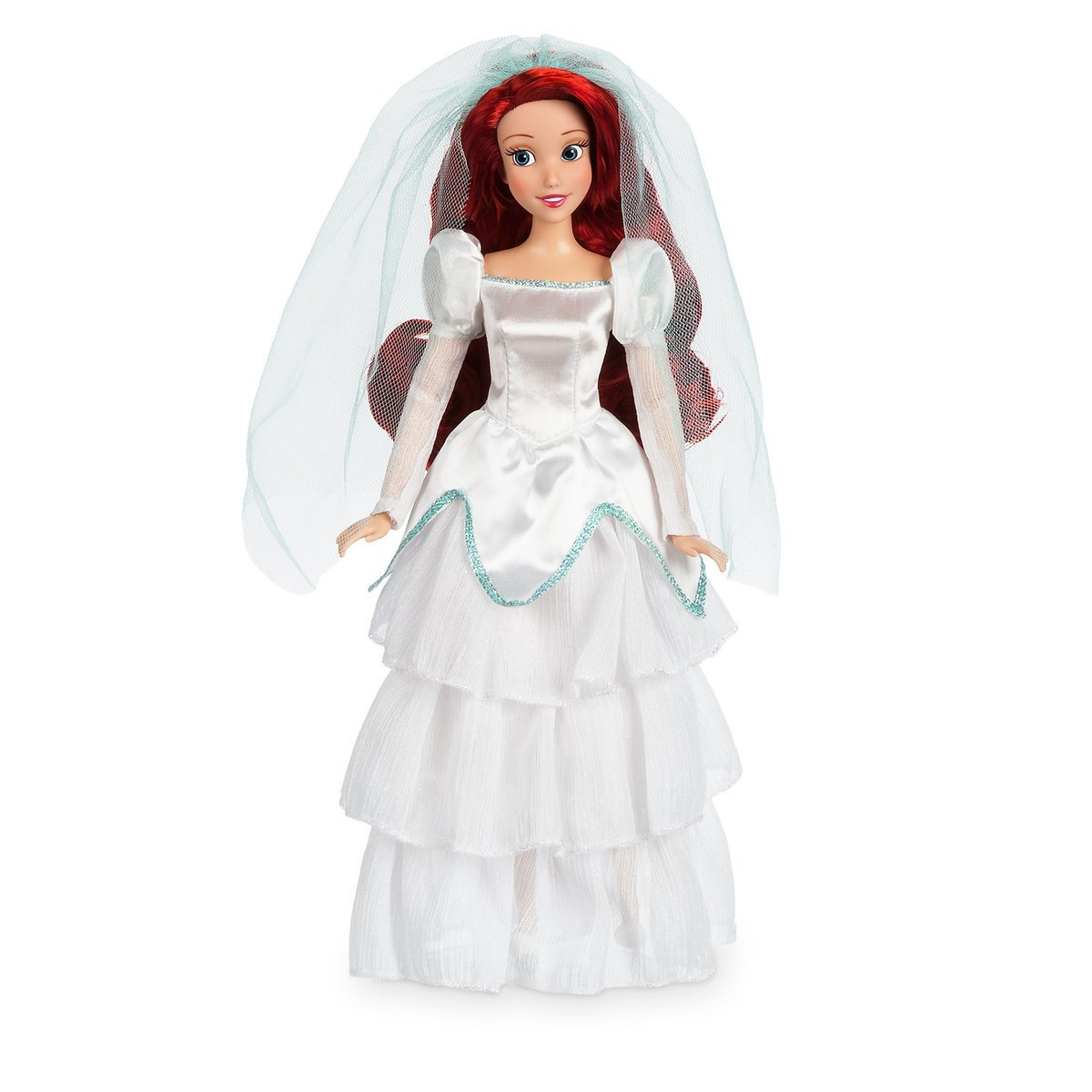 Ariel Wedding Classic Doll In Her White Satin Wedding Dress 11 1 2