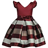 Shiny Toddler Little/Big Girls Cap Sleeves V Neck Elegant Princess Pageant Dress