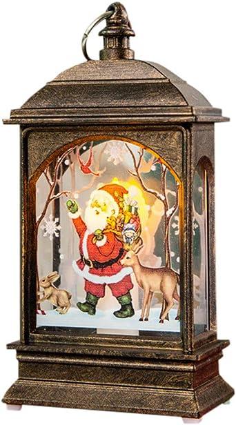 FossenHyC - LED Vela Adornos Navidad Originales Rusticos Vintage Decoracion Mesa Interiores, Navidad Decoracion Clearance Lights de Alce,Santa claus, Muñeco de nieve: Amazon.es: Iluminación