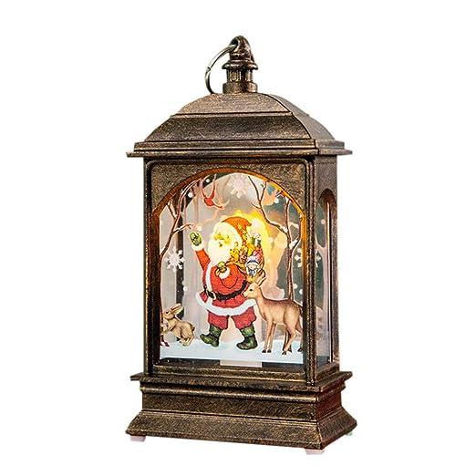 FossenHyC - LED Vela Adornos Navidad Originales Rusticos Vintage ...