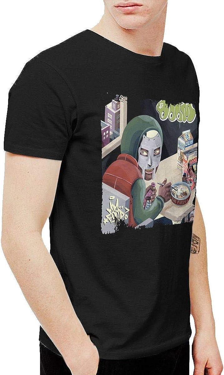 KAQ Men's MF Doom Mm Food T-Shirts Black