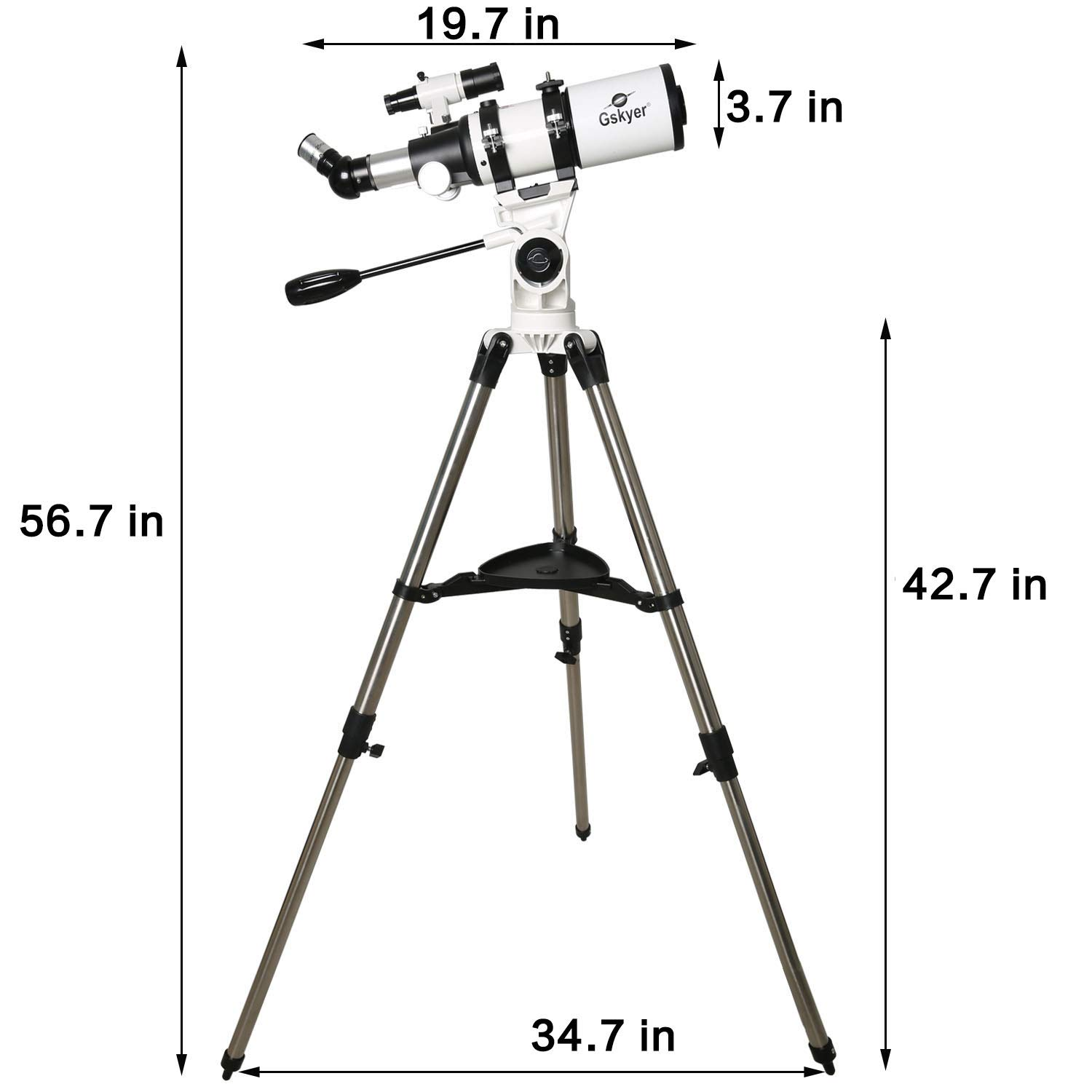 Gskyer Telescope, 80mm AZ Space Astronomical Refractor Telescope, German Technology Scope by Gskyer