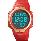 Mens Digital Sports Watch LED Screen Large Face...