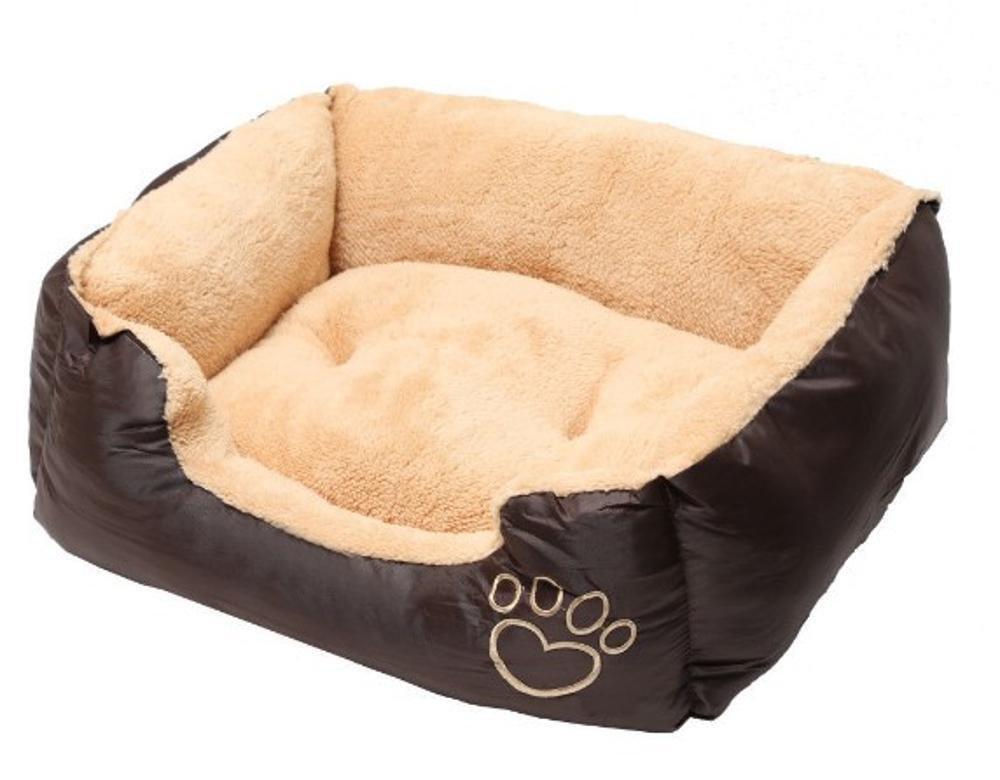 C 75x58x19cm C 75x58x19cm WUTOLUO Pet Bolster Dog Bed Comfort Pet Mat Big Kennel Goat Fleece Oxford Cloth (color   C, Size   75x58x19cm)